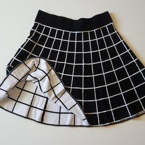 Knit Grid Skater Skirt